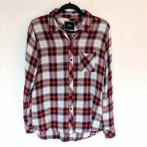 Rails Flannel Shirt Red Plaid Medium